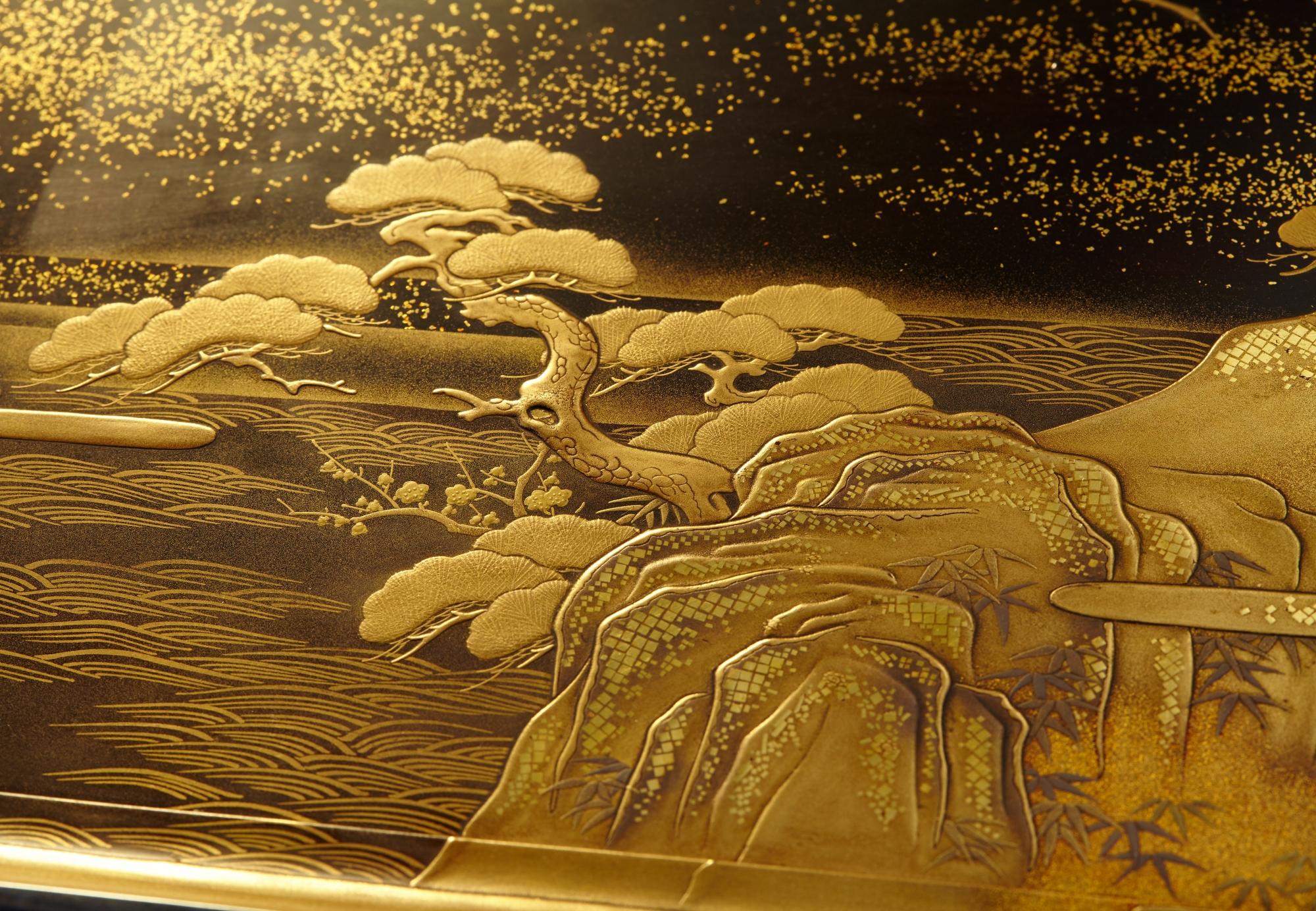 松竹梅鶴香盆画像2